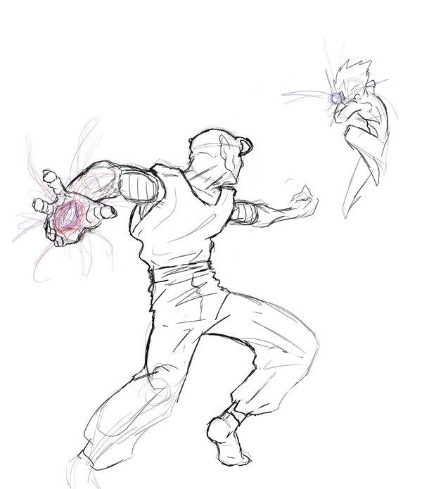 600x695 Dbz Fanart Fight Sketch By Ryutsume