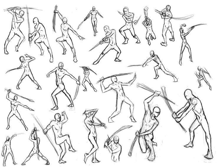 736x566 Fighting Pose Sketch Drawing Images Zeichnen Mensch