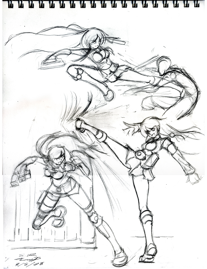 Battle Poses Drawing at GetDrawings | Free download