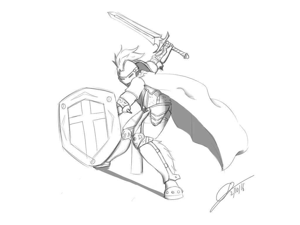 1024x768 Warrior Battle Pose By Leongx009