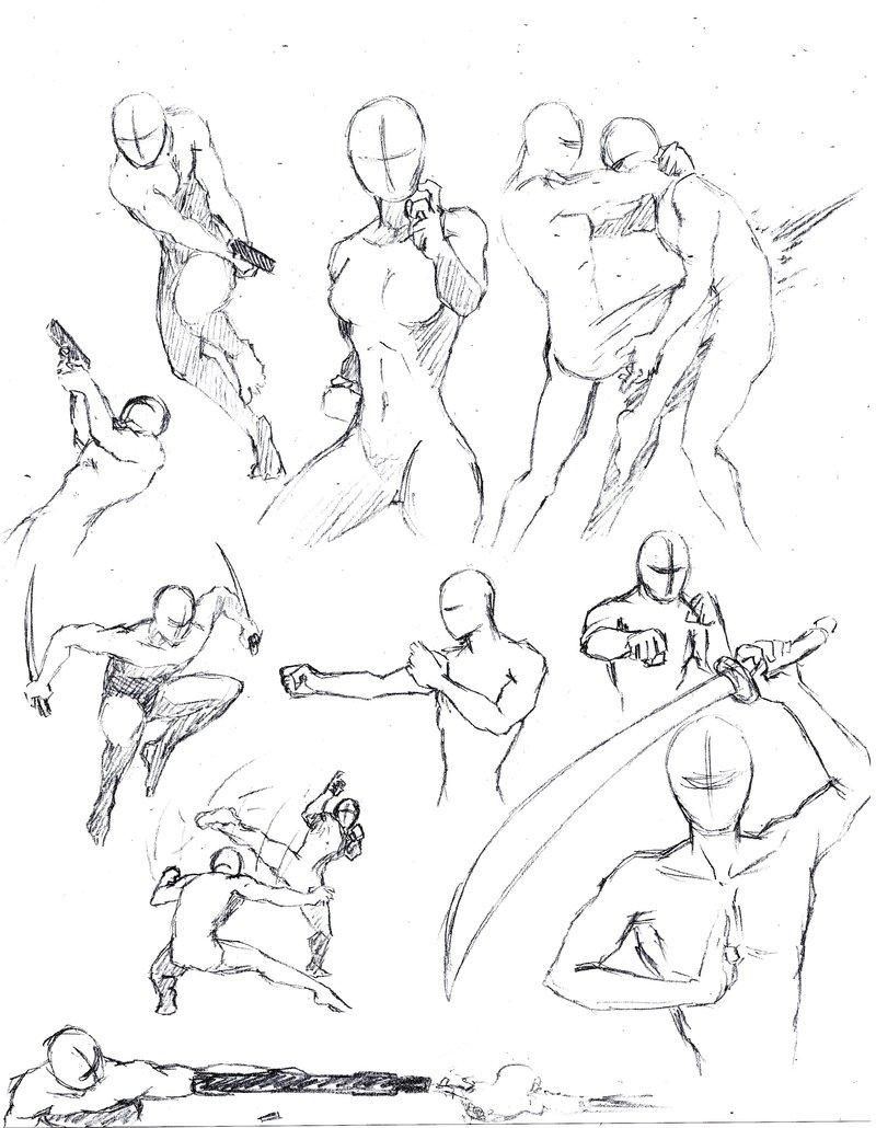 800x1030 Battle Pose Practice By Mondoart