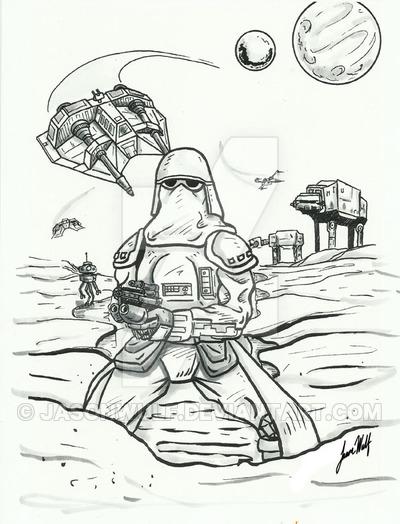 400x524 Star Wars Battle On Hoth By Jasonwulf Star Wars Star