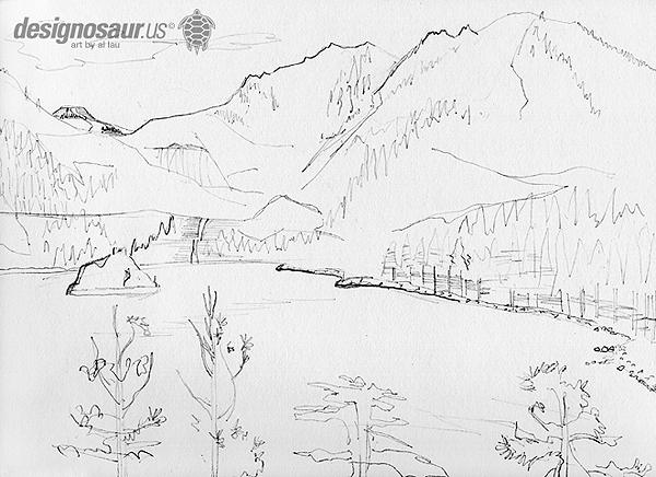 600x436 Sketch Lake Tahoe Blog.designosaur.us