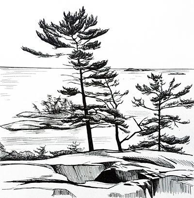 400x407 Georgian Bay View From Ridge By Margarethe Vanderpas