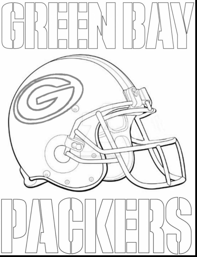 787x1024 Green Bay Packers Coloring Pages Preschool In Snazzy Draw Kids