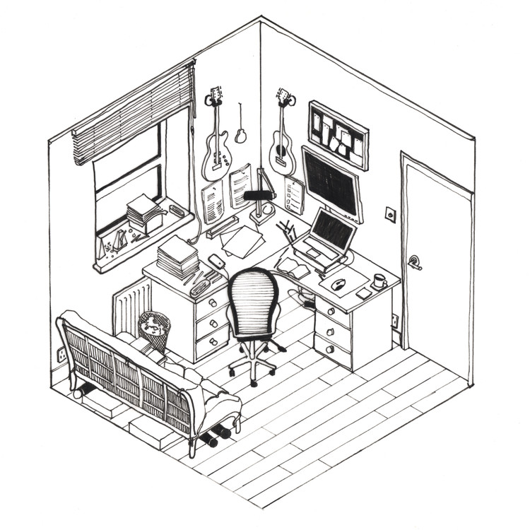 750x750 42 Sketches, Drawings And Diagrams Of Desks And Architecture