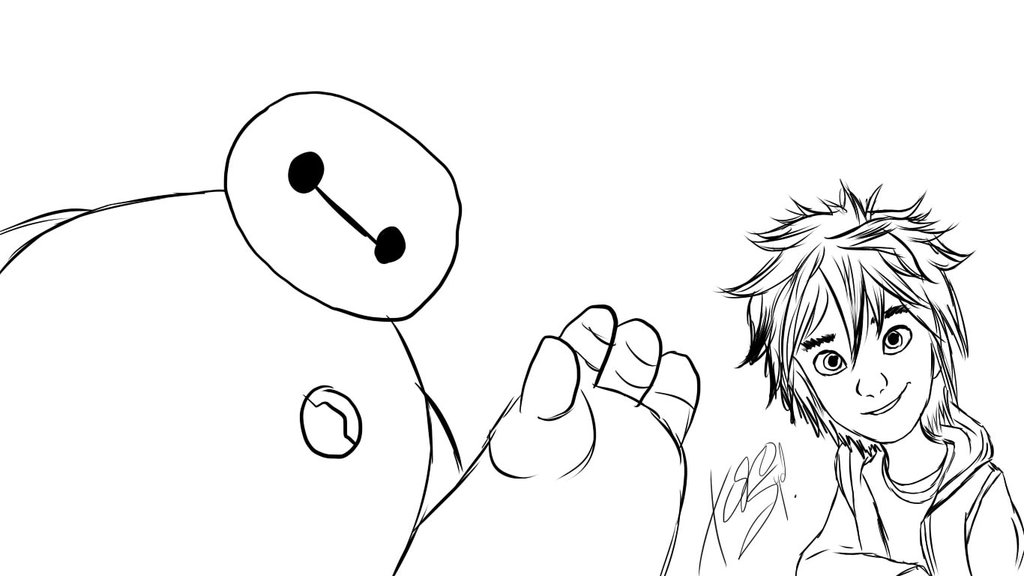 1024x576 Big Hero 6 Hiro And Baymax By Kazukiartstudios