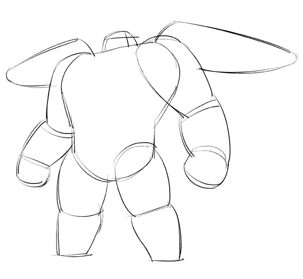 600x552 How To Draw Baymax