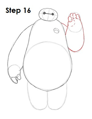 300x388 How To Draw Baymax (Big Hero 6)