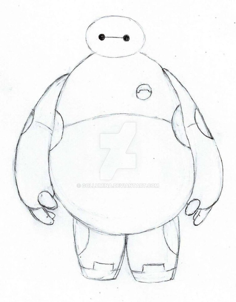 791x1010 Baymax Sketch By Gollumina