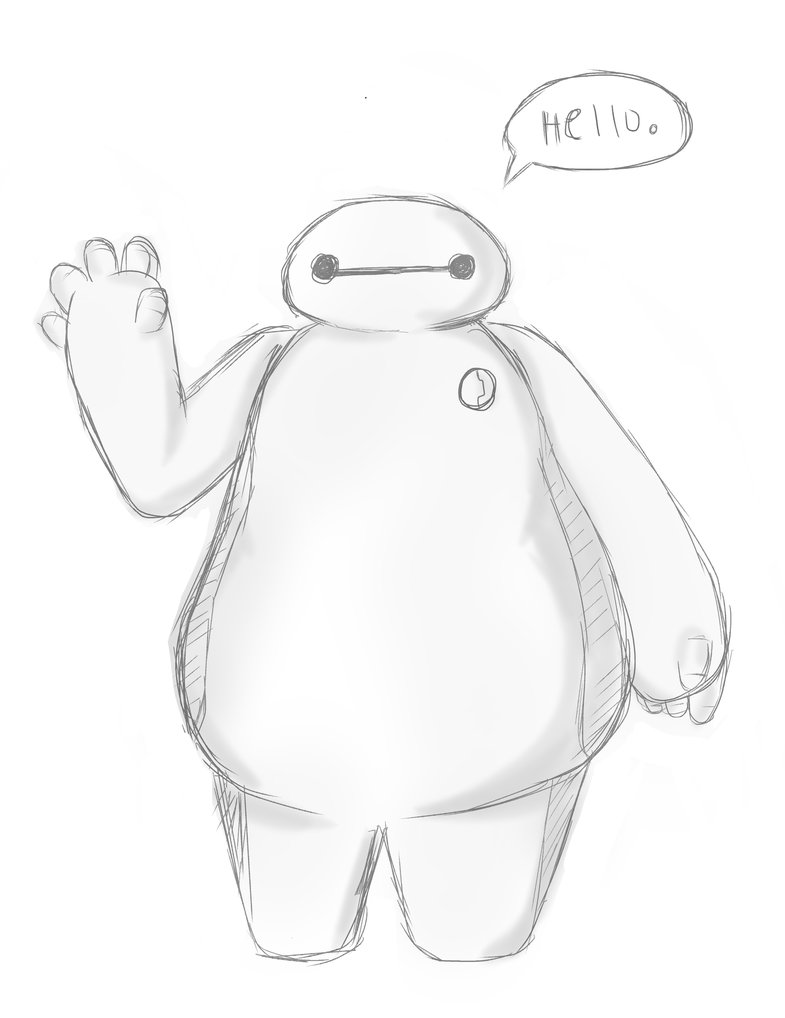785x1018 Baymax Sketch By Kawaakarii