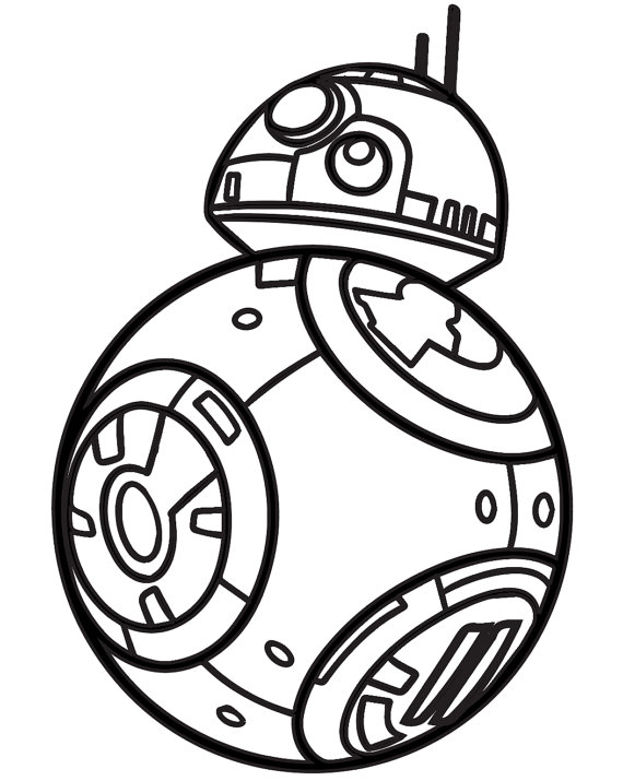 570x715 Bb8 Colouring Pages Bb Coloring Page Pages. Star Wars Bb Robot