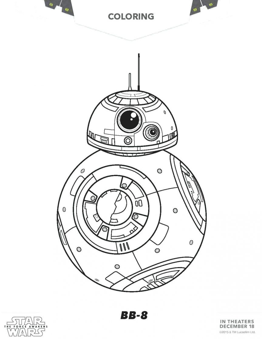 863x1117 C3po Coloring Pages