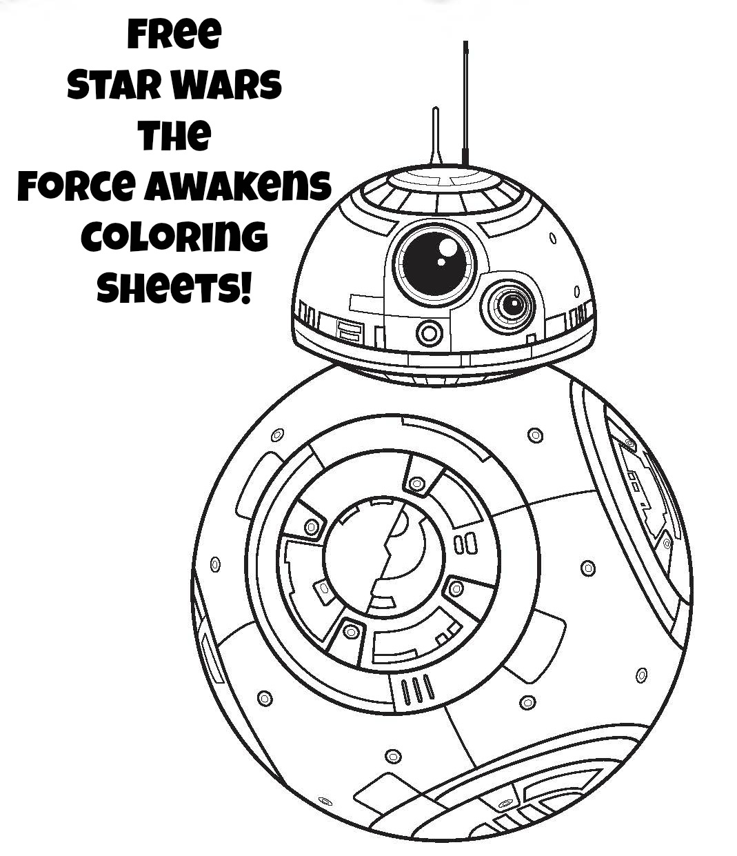 1069x1241 Star Wars Robot Bb 8 Free Coloring Page Kids, Movies, Star Wars
