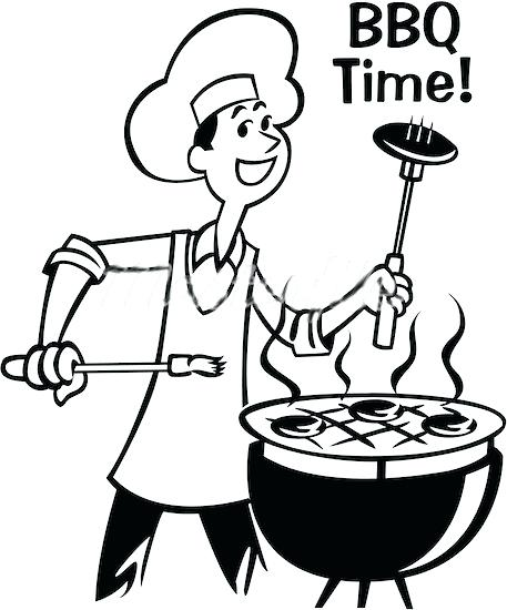 457x550 Bbq Clipart Black And White Kid 2 Bbq Smoker Clipart Free