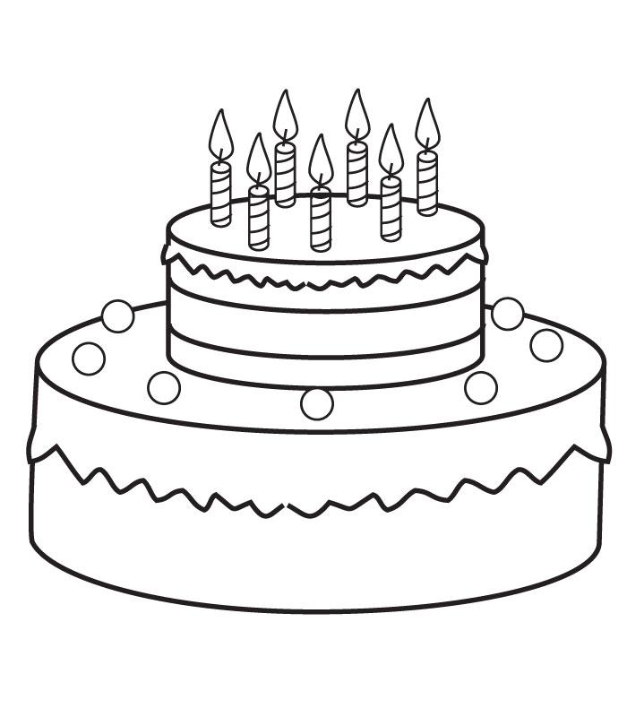 700x800 Coloring Birthday Cake