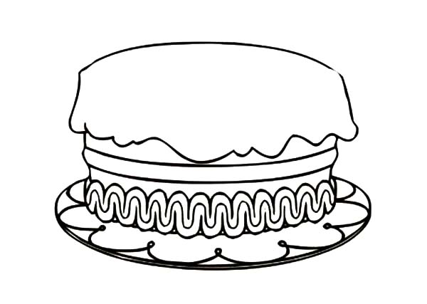 600x427 How To Draw Birthday Cake Coloring Pages
