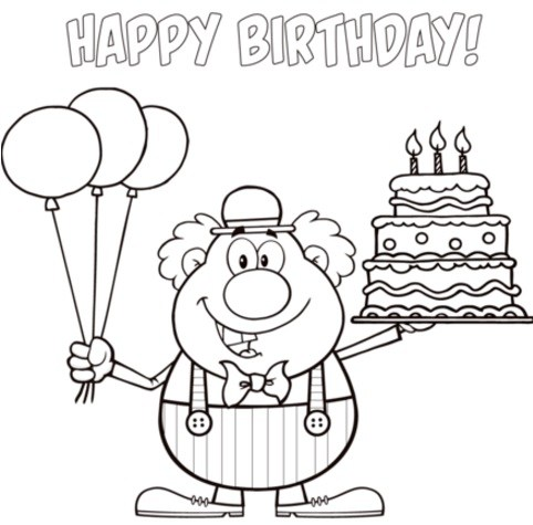 482x475 Happy Birthday Coloring Pages Printable Birthday Hd Images