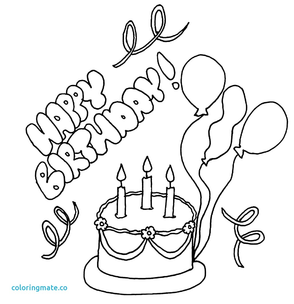 1025x1059 Happy Birthday Coloring Page Elegant Colour Drawing Free Wallpaper