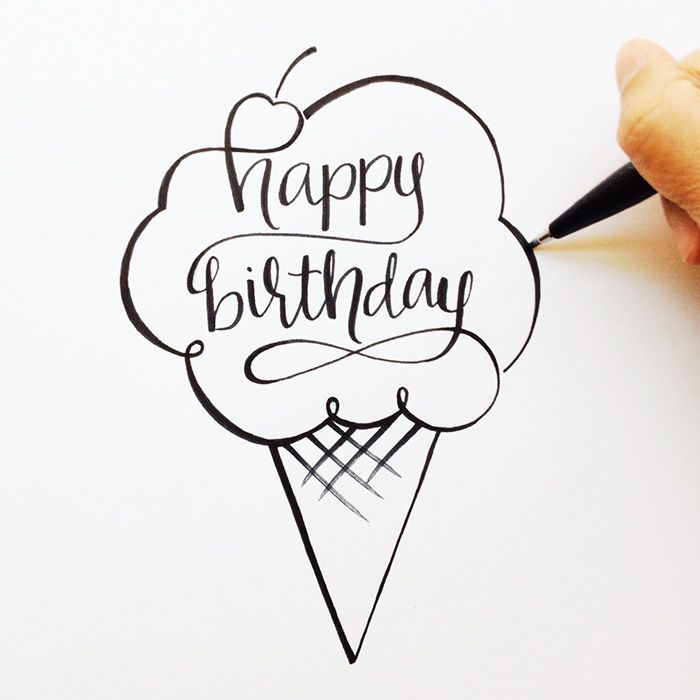 700x700 Happy Birthday Hand Lettering Crafting Happy