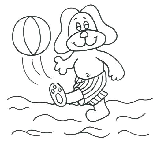 500x461 Beach Ball Coloring Pages Printable For Sports Balls Page Best