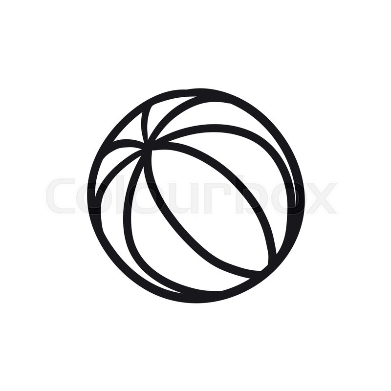 800x800 Beach Ball Vector Sketch Icon Isolated On Background. Hand Drawn