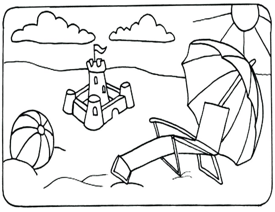 906x700 Coloring Page Beach Ball Objects Printable Pages Drawing