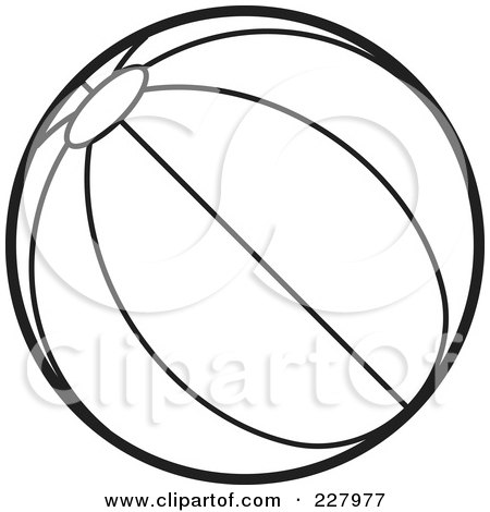 450x470 Coloring Page Outline Of A Beach Ball With Stripes Posters, Art