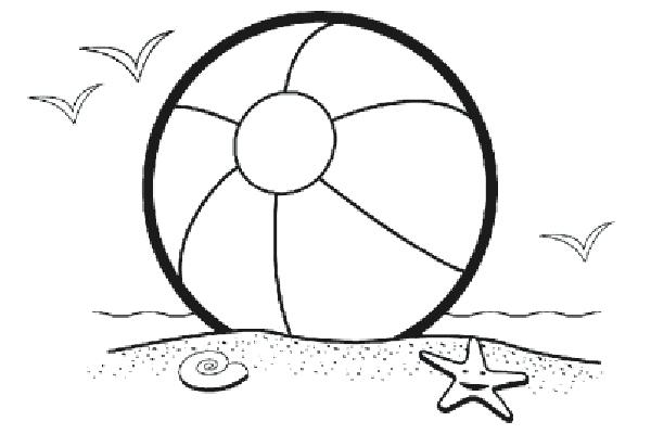 600x400 Cool Beach Ball Coloring Page Best Of For Picture To