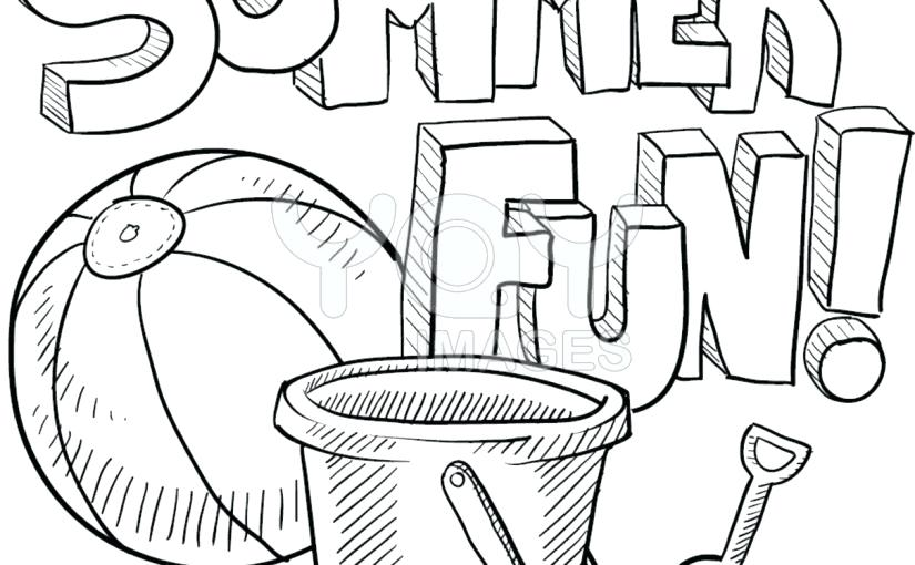 825x510 Free Summer Coloring Pages Summer Is Fun Bucket Beach Ball
