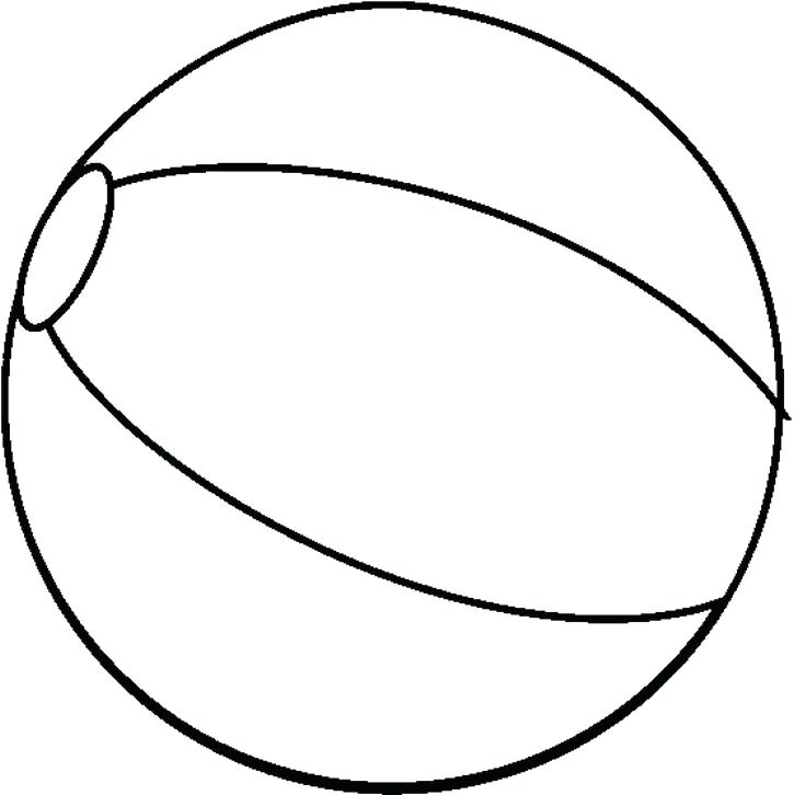 725x726 Ball Coloring Pages Luxury Beach Ball Coloring Page About Remodel