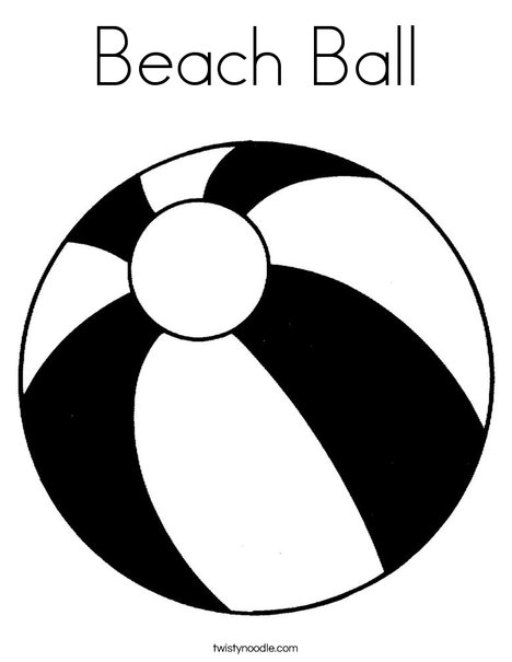 468x605 Beach Ball Coloring Page