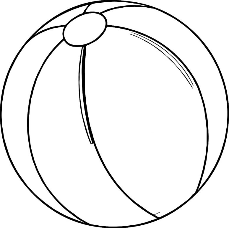 775x774 Beach Ball Coloring Page Coloring Page For Creativity