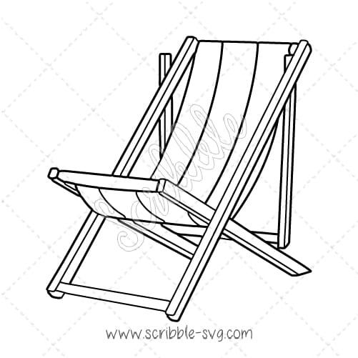 Wooden White Desk Chair