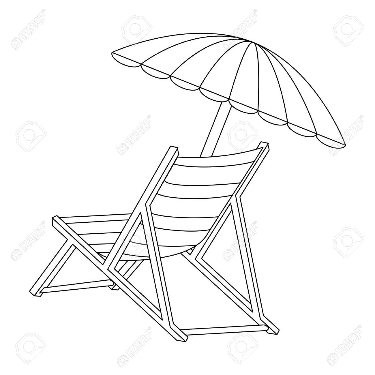 1300x1300 Isolated Beach Chair Icon Vector Illustration Graphic Design