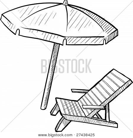 beach chair drawing at getdrawings com free for personal use beach