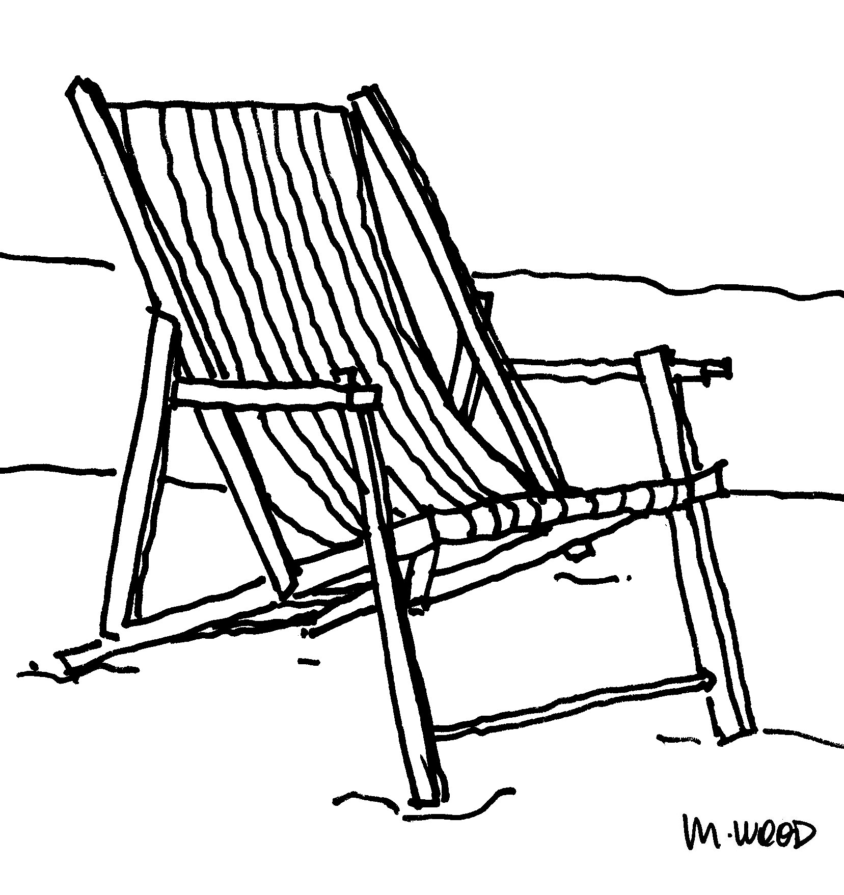 1657x1757 Beach Chair Clipart Black And White Classbeachhotel