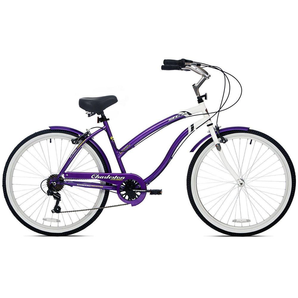 1000x1000 26 Womens Beach Cruiser Bike 7 Speed Ladies Bicycle Vintage Bikes