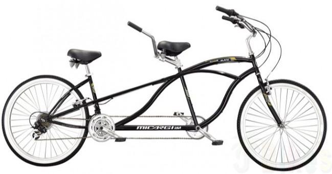 649x340 Island 18 Speed Tandem Bike, Black