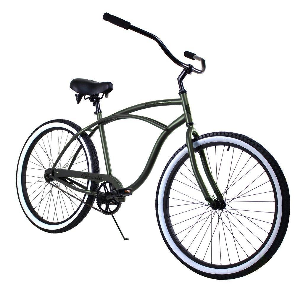 1024x1024 Zf Bikes Classic Men Army Green Beach Cruiser Bike Brooklyn