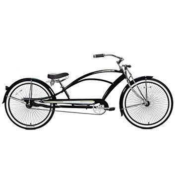 355x355 Micargi Mustang Gts Beach Cruiser Bike, Black, 26