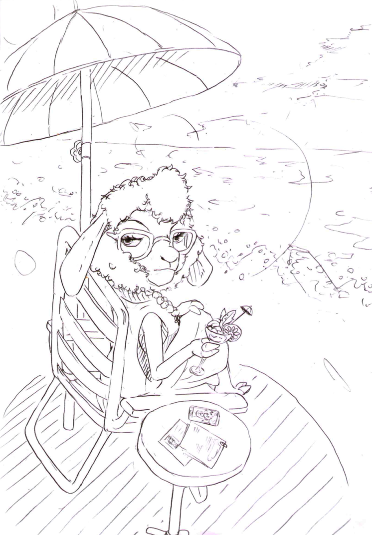 746x1072 Beach Drawings (Bellwether) By Thanku830309