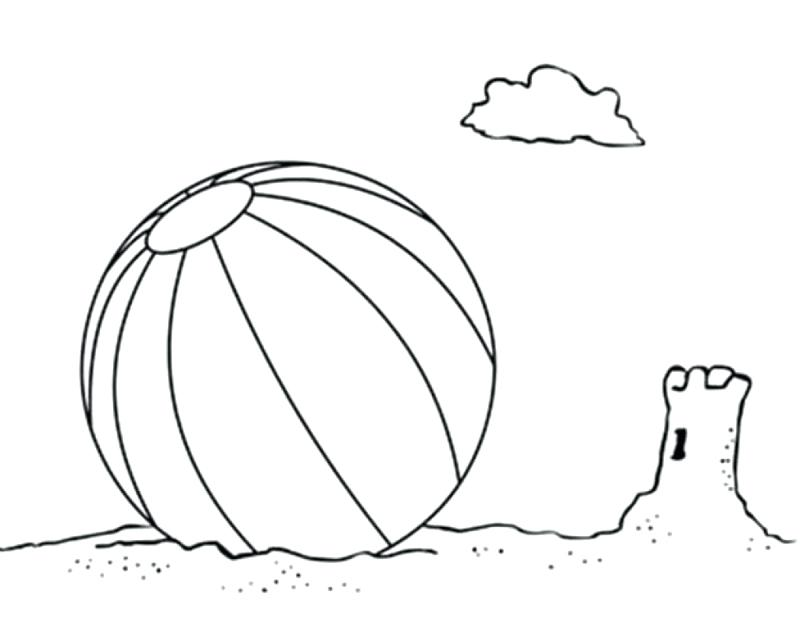 800x627 Cool Beach Ball Coloring Page Best Of Objects Printable Pages