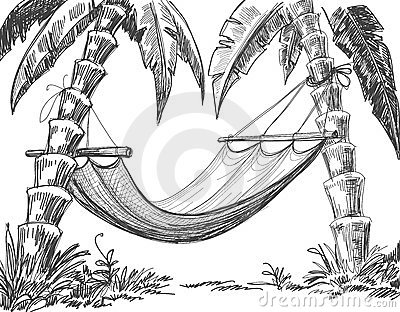 400x312 Hammock Pencil Drawing Sketching Pencil Drawing