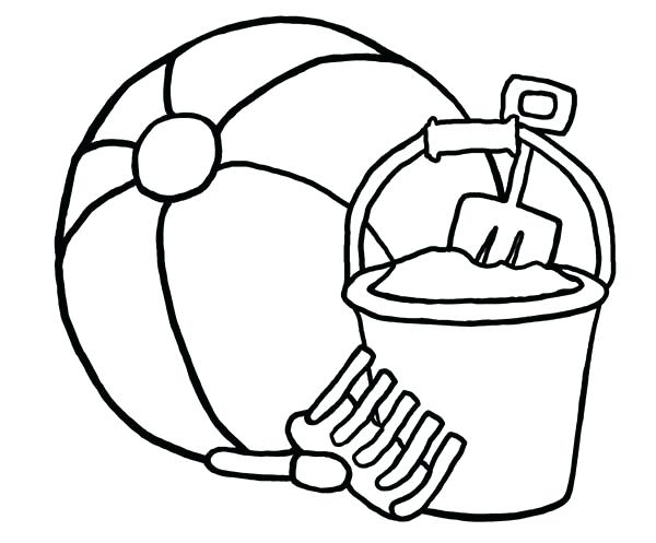 600x497 Summer Beach Ball Coloring Page Drawing Toy Pages For Kids Vector