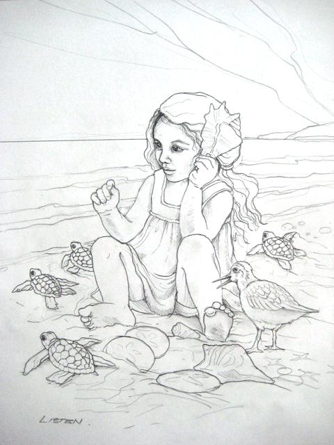 Beach Drawing Ideas