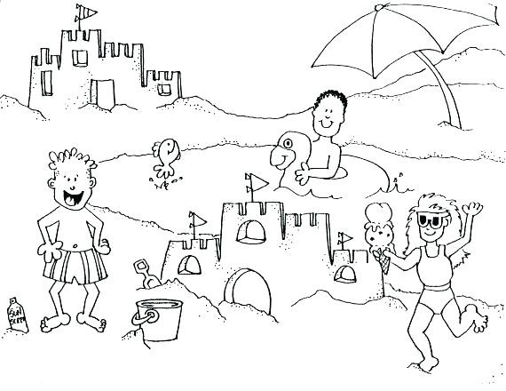 570x440 Strange Printable Beach Pictures Ideas Of Colouring In Free