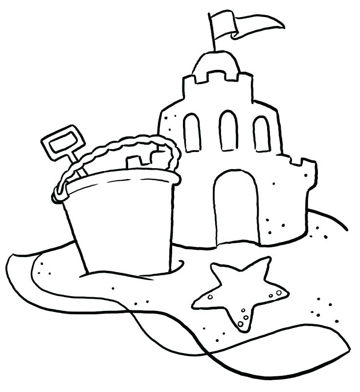 736x802 Beach Coloring Book As Well As Beach Coloring Book Free Summer