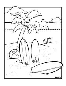 231x300 Summer Coloring Pages Surf's Up Day