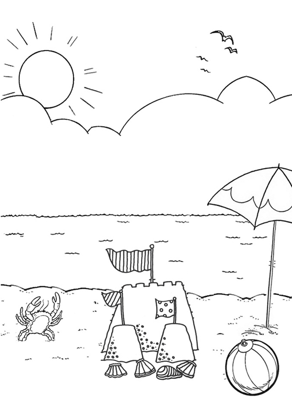 600x850 Good Beach Coloring Pictures 73 On Line Drawings With Beach